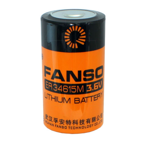 ER34615M - Fanso ER34615M D size 3.6V 14000Ah Lithium Thionyl Chloride Battery - Spiral Wound Type
